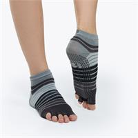 gaiam Toeless Yoga Socks - grey/black (grey/black)