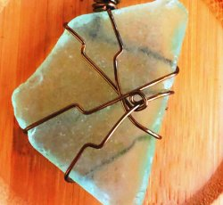 Light Green Sea Glass Necklace