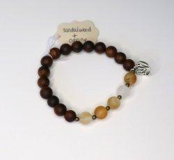 Nisha Shanti Mala Bracelet - Sandalwood & Citrine