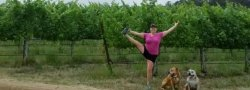 Outdoor Yoga at Notre Vue Estate Winery with Dawn Justice