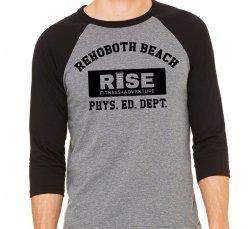 Three Quarter Sleeve Baseball RISE shirt
