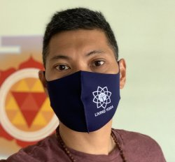 LY Reusable Cloth Face Mask (Navy Blue)