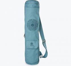 Blue Embroidered Cargo Yoga Mat Bag