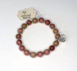 Nisha Shanti Mala Bracelet - Rhodochrosite
