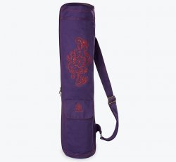 Purple Embroidered Cargo Yoga Mat Bag