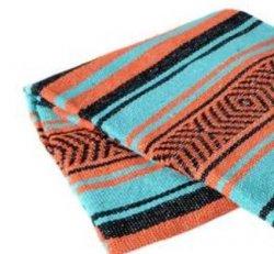 349 Yoga Blanket (Mint/Orange/Black)