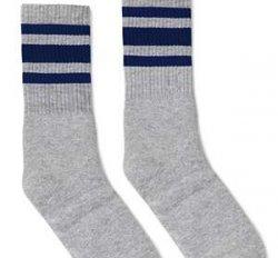 Cozy Thrive Grip-Bottom Yoga Socks - Gray/Navy