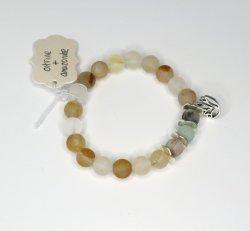 Nisha Shanti Mala Bracelet - Citrine & Amazonite