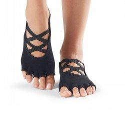 Half Toe Grip- Elle- Black
