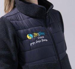 Custom Black Fleece Jacket