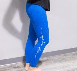 "Royal Blue Pocket Light n Tight Legging 7/8 24"""