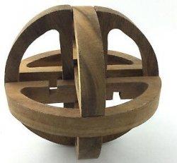Mahogany  Globe  Puzzle (Vintage Game)
