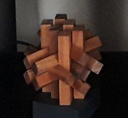 Mahogany Angles and Edges Puzzle