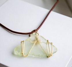 Pale Green Sea Glass Necklace