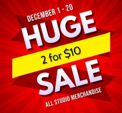 2 for $10 Merchandise Sale