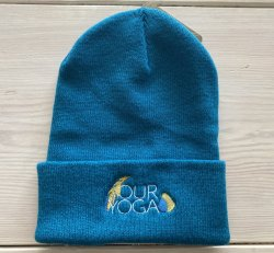 Embroidered Teal Adult Beanie