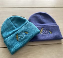 Embroidered Teal Toddler Beanie