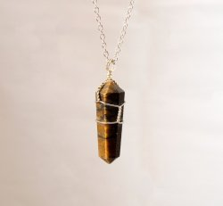 TYC Wire Wrapped Crystal Necklace ( or bare Pendant )