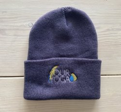 Embroidered Mauve Adult Beanie