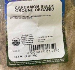 Cardamom Seeds, Ground Organic