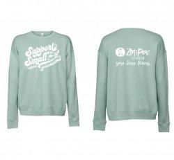 Blue Support Small Sweatshirt
