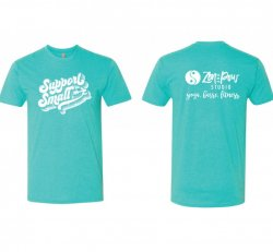 Teal Support Small Tee