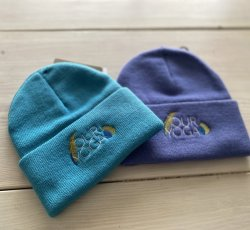 Embroidered Purple Toddler Beanie