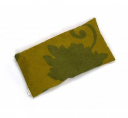 Flax Seed Eye Pillow - Green Flower