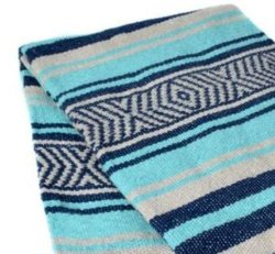 347 Yoga Blanket (Navy/Mint/Tan)