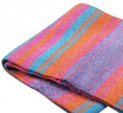 344 Yoga Blanket (Hot Pink/Turq/Orange)