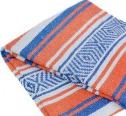 352 Yoga Blanket (Orange/Royal/White)