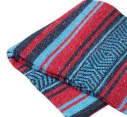 345 Yoga Blanket (Turq/Red/Navy)