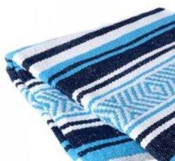 350 Yoga Blanket (Navy/Turq/White)