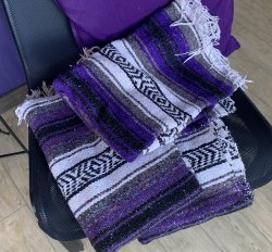 Used Mexican Yoga Blankets (Multi)