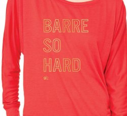 Barre So Hard Slouchy T (Red)