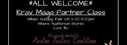Community Donation Partner Krav Maga Class (Partner Required)