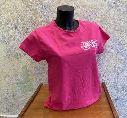 Blue Lagooners Women's Pink/White Stretch Cotton T-Shirt