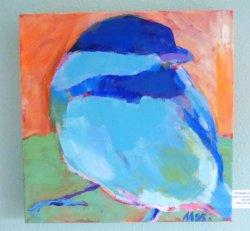 Chickadee in Blue
