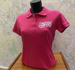 Blue Lagooners Women's Pink/White 100% Cotton Polo Shirt