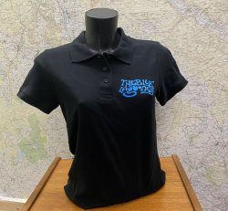 Blue Lagooners Women's Black/Royal 100% Cotton Polo Shirt