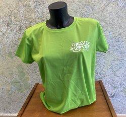 Blue Lagooners Women's Green/White Technical (Airtex) T-Shirt