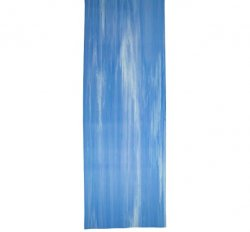 Blue/White Textured Yoga Mat