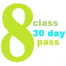 8 Class 30 Day Pass