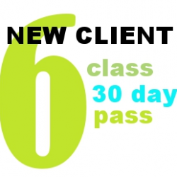 NEW CLIENTS - 6 Class 30 Day Pass
