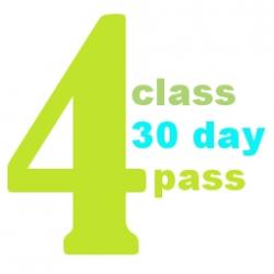 4 Class 30 Day Pass
