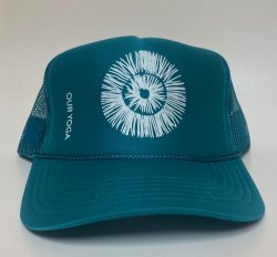 Our Yoga Teal Adult Trucker Hat