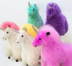 "Baby Alpaca Fur-Unicorn Ornament 12"""