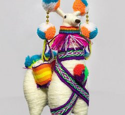 """Ethnic Peruvian Llama - 8"""""""