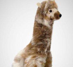 "Baby Alpaca Fur-Giraffe Ornament 15"""