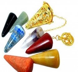 Pendulum cage with Chakra stones